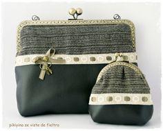 Bolso + Monedero Antique Vintage, Bolsos y carteras, Bolsos, Bolsos y carteras, Monederos, Vintage, Bolsos, Vintage, Monederos