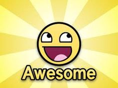 """One word """"Awesome"""""""