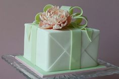 cube cake gift box cake by Vavi's Cakes & Cupcakes, inspired by Pamela McCaffrey Made with Love Cakes