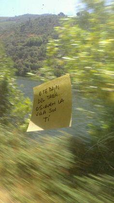 La vida sigue fuera... ¿Te bajas del tren?