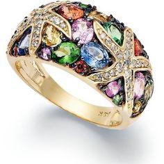 multi stone ring - Google Search