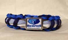 Custom Handmade Paracord Bracelet Made With Handmade Grizzlies Charm