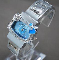 Hello Kitty** Watch Stainless Steel Bracelet CZ Bezel NEW