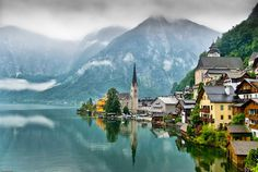 Hallstatt, Austria. This little town is so quiet, you literally can hear yodeling across the valley! The best trout are in this lake as well. It's a true hidden gem