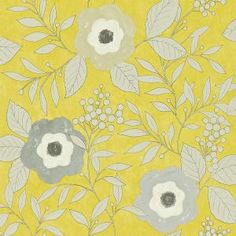 Bella Arthouse  Yellow Birds Floral Shabby Chic Feature Wallpaper 630405