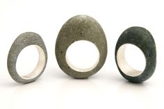 by Andrea Williams of boundearth. Sa Stone Ring: Minimal. A simple beach stone with simple reclaimed Sterling band.