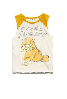 Garfield Baseball Muscle Tee (Kids) | FOREVER21 girls - 2000084039