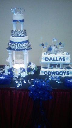 Dallas Cowboys Theme Wedding Cake