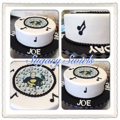 Music/guitar themed birthday cake - Oreo flavored throughout Custom Birthday Cakes, Themed Birthday Cakes, Birthday Parties, Oreo Flavors, Oreo Cake, Music Guitar, Swirls, Party, Anniversary Parties