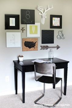 Black and White Playroom Gallery Wall