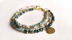 Bracciali con cristalli colorati oro 18k bracciale multifilo cristalli charm pendente Beaded Bracelets, Earrings, Etsy, Jewelry, Fashion, Gold, Ear Rings, Moda, Stud Earrings