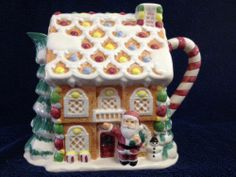 Omnibus By Fitz And Floyd Gingerbread House Teapot, No Lid!