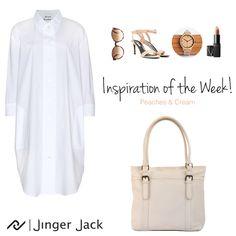 Our Inspiration Look of the Week with our Jinger Jack's Dublin Shoulder bag in Cloud Dancer! Leather Handbags, Leather Bag, Cloud Dancer, Summer Looks, South Africa, Shoulder Bag, Dublin, Shirts, Ootd