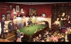 Hetalia, this would be an interesting room to be in. And Sealand watch your aim so you don't hit America with a dart.