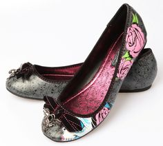 Iron Fist Sugar Witch Flats Skull Shoes VEGAN