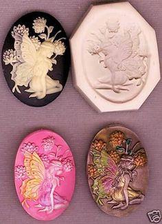 Polymer clay fairy garden cameo