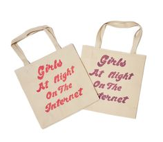 GIRLS AT NIGHT ON THE INTERNET TOTE