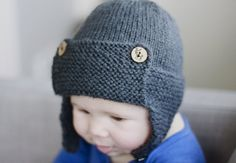 Aviator Hat with Stag Buttons
