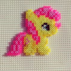 MLP baby Fluttershy hama beads by kikesailorboy