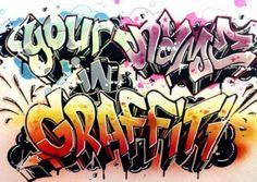graffiti art project for kids - Google Search