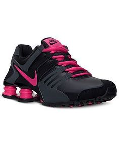 sale retailer 0d44b 2fb7b Nike Shox Current Black Anthracite Pink Grey 060 Womens Running Shoes US