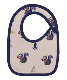 Another great find on #zulily! White Squirrel Organic Bib by Tiny Twig #zulilyfinds .. .Designed in Australia
