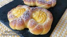 Braided croissants with custard cream 🥐 Croissants, Brewers Yeast, Sweet Buns, Eclairs, Dry Yeast, Beignets, Cream Recipes, Custard, Crack Crackers