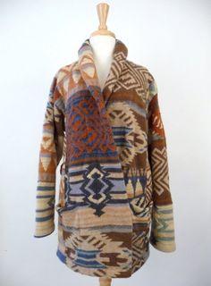Ralph Lauren Indian Blanket Sweater Cardigan