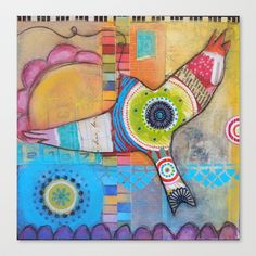 Soaring Above Stretched Canvas by Christina Minasian - $85.00