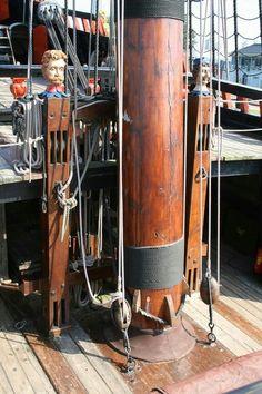 Batvia Part II Masts & rigging. Photo by Tadeusz Old Sailing Ships, Abandoned Ships, Tug Boats, Speed Boats, Tall Ships, Model Ships, Sailboat, Nautical, Pirate Ships