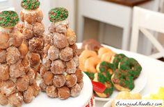 No Bake Donut Hole Christmas Tree for Christmas Morning!  Christmas Breakfast Ideas {Trees}