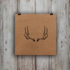 Antler Card by boundlove on Etsy