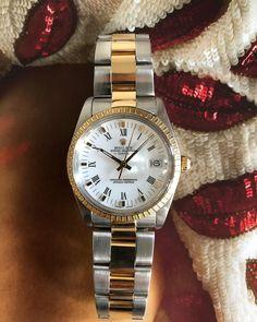 Rolex Date from 1988 (34 mm) #watch #rolex #rolexwatches   rolex watches for men   rolex horloge voor heren   rolex horloge voor mannen   vintage watches   vintage horloges   horloges heren   SpiegelgrachtJuweliers.com