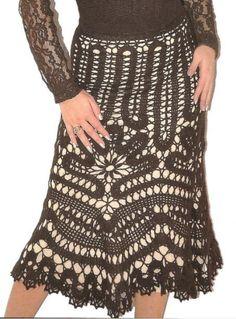 Вязаная юбка годе из брюггского кружева, схема вязания | Вязаные юбки.ру