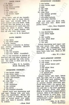 22 Vintage Delicious Desserts Recipes from 1952 – The Homestead Survival Retro Recipes, Old Recipes, Vintage Recipes, Cookbook Recipes, Candy Recipes, Sweet Recipes, Baking Recipes, Cookie Recipes, Dessert Recipes