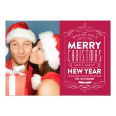 Wish a Merry Christmas to loved ones this holiday season with Christmas cards from Zazzle! Festive greeting cards, photo cards & more. Custom Christmas Cards, Christmas Photo Cards, Xmas Cards, Christmas Photos, Holiday Cards, Wish You Merry Christmas, Christmas Couple, Holiday Invitations, Invites