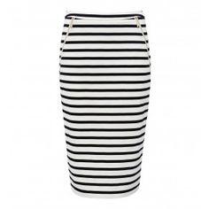 Zip pencil skirt
