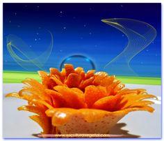 Arte, Formas y Colores, con frutas y verduras esculpidas. Esculturavegetal, te proporciona los cursos y herramientas para tus tallados decorativos de cocktails, platos y buffets! www.esculturavegetal.com