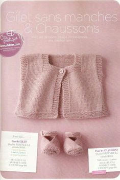 No Pattern - Just Idea. Baby Knitting Patterns, Baby Hats Knitting, Knitting For Kids, Baby Patterns, Free Knitting, Knitted Baby Cardigan, Knitted Baby Clothes, Brei Baby, Baby Vest