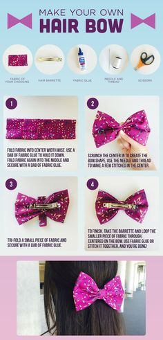 Follow these tips to make your own adorable hair bow #DIY #Disney