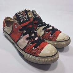 76d39b050 Converse All Star Dr Seuss Cat in The Hat Trashed Low top Size 5 Juniors 7  Women · Ugly ShoesWomen s ...