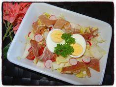 Salade d'endive au jambon cru