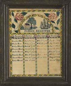 MR. DAVID SMITH, DATED 1812  HURD FAMILY REGISTER David Smith, Family Trees, Family History, Genealogy, New England, Folk Art, Cross Stitch, Dating, York