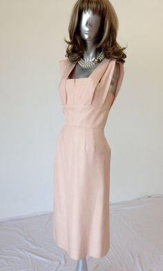 Vintage 1950's Pink Elizabeth Arden Cocktail Wiggle Dress