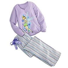 Disney Tinker Bell Pajama Set for Women | Disney StoreTinker Bell Pajama Set for Women - Drift away to dreams of Never Land wearing these super soft Tinker Bell pajamas with comfy jersey top and flannel bottoms. Colorful Tink art with sparkling glitter wings highlight an enchanting cotton sleepwear set.