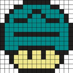 Zodiac Libra Mushroom Perler Bead Pattern perler,hama,square pegboard,video games,nintendo, super mario bros,mushroom,