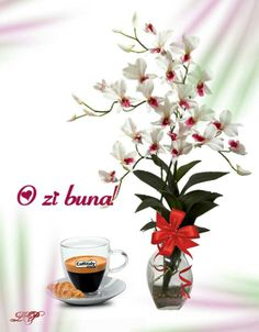 Happy Aniversary, Morning Greeting, Good Morning, Glass Vase, Tableware, Plants, Design, Coffee, Life