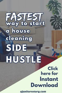 Learn the easiest way to start a house cleaning side hustle. You'll get instant access to the easiest and simplest way to start your own residential maid service business. Office Cleaning Services, Professional Cleaning Services, Cleaning Companies, Cleaning Business, Business Professional, Cleaning Fun, Cleaning Checklist, Cleaning Supplies, Business Articles