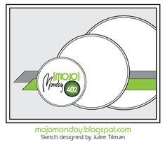 Mojo Monday 402 Card Sketch Sketch designed by Julee Tilman #mojomonday #vervestamps #cardsketches