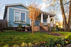Boost your Mediterranean-style home's curb appeal with these simple landscaping and home maintenance tips from HGTV. Exterior Paint Colors, Exterior Design, Architecture Design, Beautiful Small Homes, Exposed Rafters, Design Café, Design Ideas, Mediterranean Style Homes, Stone Cladding